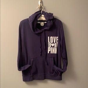 PINK navy hoodie